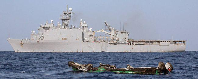 Marineforum - ASHLAND und die Überreste des Piratenbootes