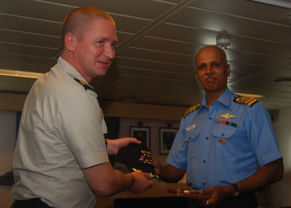 NATO and Indian Counter-Piracy Task Force Commanders Meet
