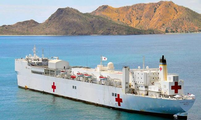 Marineforum - MERCY vor Ost-Timor (Foto: US Navy)