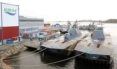 Marineforum - SKJÖLD-Boote warten bei Umoe Mandal auf Fertigstellung (Foto: Umoe)