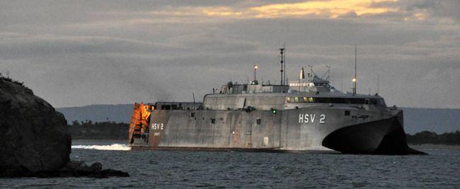 Marineforum - HSV 2 SWIFT bei seinem neuen Einsatz (Foto: US Navy)