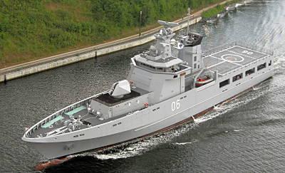 Marineforum - OPV-Neubau DARUSSALAM (Foto: Dt. Marine)