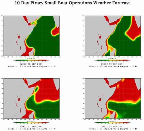 Marineforum - Entwicklung der Piratenbedrohung bis zum 24. September (Grafik: US Navy)