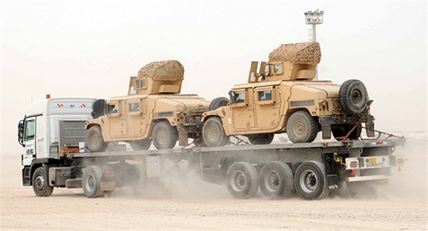 Face of Defense: Convoys Truck Equipment Out ofIraq