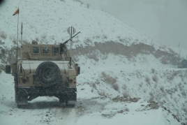 Lithuanian and Afghan military personnel continue collective patrolling of remote areas of Ghor