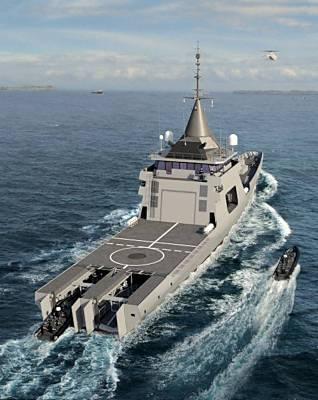 Marineforum - L'ADROIT mögliche Designvorlage für BMM und BSAH (Grafik: DCNS)