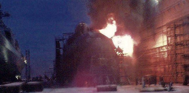 Marineforum - Feuer auf YEKATERINBURG (Foto: offz)