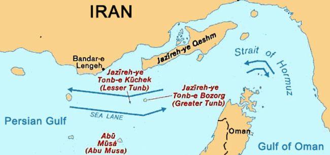 Marineforum - Straße von Hormuz (Grafik: Wikipedia)