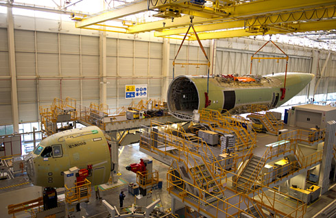 Airbus Military begins final assembly of second serial A400M
