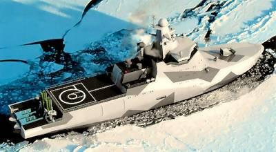 Projekt 23550 Arctic Patrol Ship (Grafik: MoD Russia)