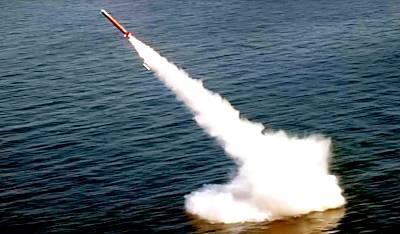 Unterwasserstart von 'Babur-3' - Indien behauptet gefälschtes Foto (Foto: MoD Pakistan)