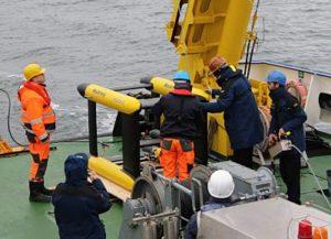 ferngelenktes Schleppfahrzeug Focus 2 dient als Trägerplattform für Erprobung von Unterwassersensoren (Foto: MacArtney)