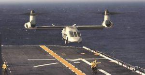 Landung einer V-280 auf amphibischem Träger (Grafik: Bell-Textron)