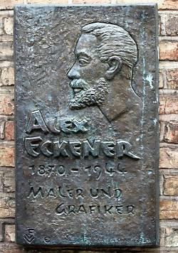 Alex Eckener Gedenktafel am Geburtshaus in Flensburg