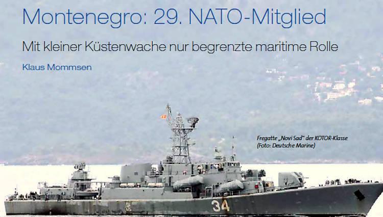 Montenegro: 29. Nato-Mitglied — Mit kleiner Küstenwache nur begrenzte maritime Rolle