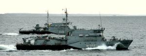 Minenjagdboote 'Fulda' und 'Herten' (Foto: Deutsche Marine)