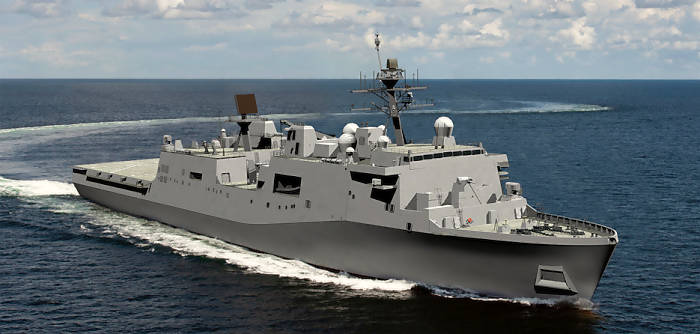 LX‑R — Neues Docklandungsschiff der US Navy nimmt Form an