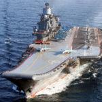 """einziger Flugzeugträger """"Admiral Kuznetsov"""" (Foto: russ. Marine)"""